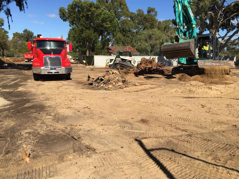 earthwork prior to paving