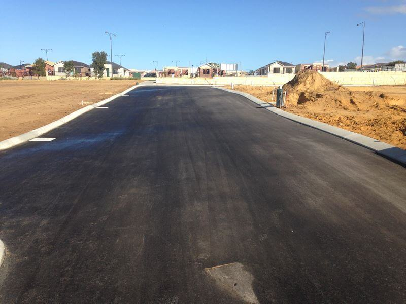 residential parking lot construction